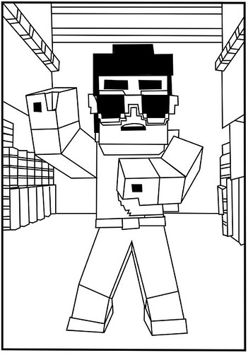 coloring pages minecraft enderman videos - photo#25