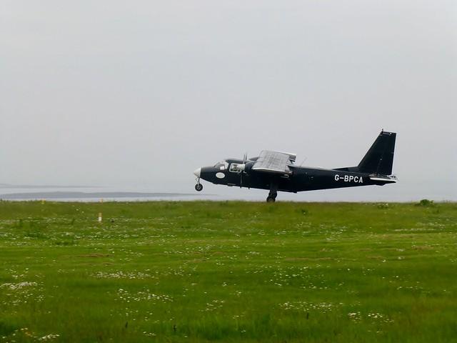 Islander G-BPCA Takes Off