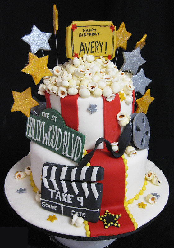 Movie Theatre Themed Birthday Cakes