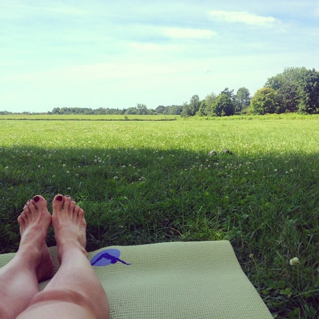Saturday Morning #yoga on the #prairie. Total Bliss. #shirleyyoga