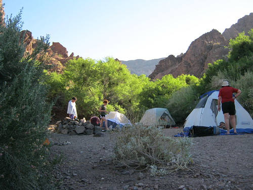 <p>Our campsite (there were 9 of us)</p>