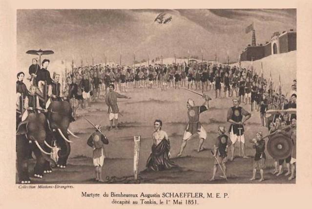 Bienheureux Schaeffler décapité au Tonkin le 1° Mai 1851