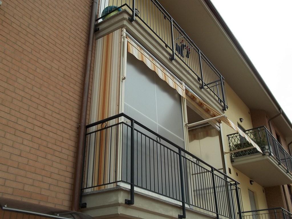 Tende Da Balcone Antipioggia : Tenda veranda doppio rullo estate inverno antivento tende da