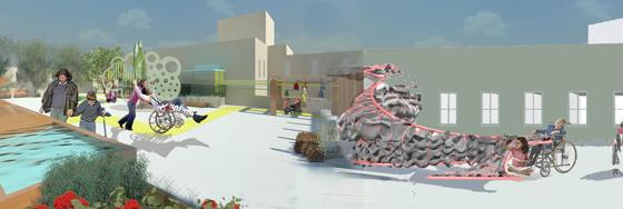 גן חושים, בית ספר אילנות - נטע לוי בהנחיית אדריכלית אריאל בלונדר