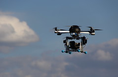 Remote Control Flying Camera in the Clouds - Montmartre, Paris