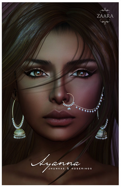 {Zaara} for We <3 RP : Ayanna earrings and nosering set