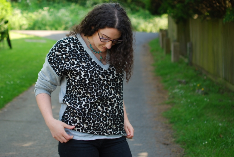 chambray and curls leopard print jumper Ethical Fashion style