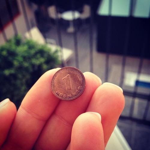 Pfennig-Fund in Barcelona