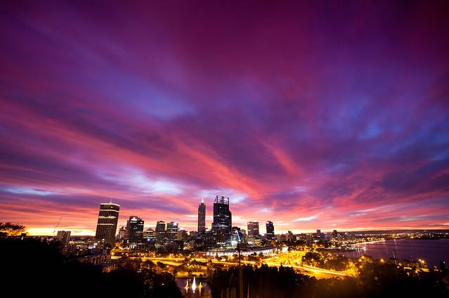 Sunrise Perth City , Western Australia