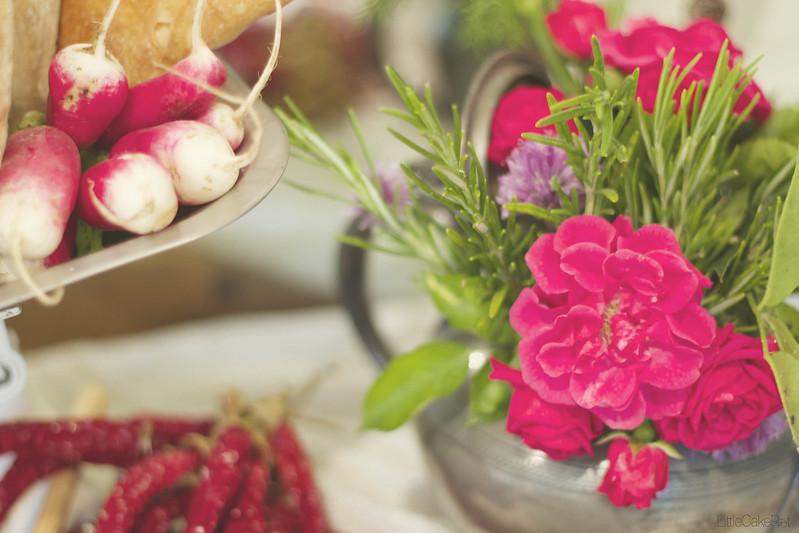 radish and roses detail