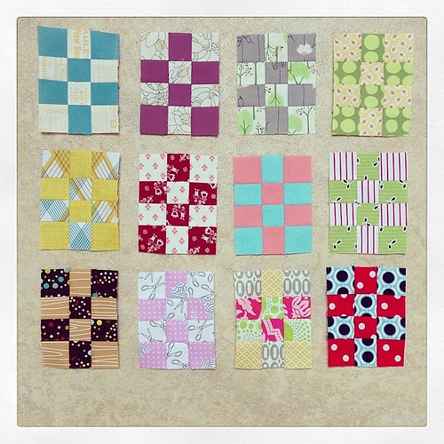 My #packpatchminiqal blocks so far