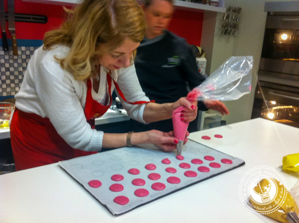 Learning to Make French Macarons in Paris - Making Macaron Shells