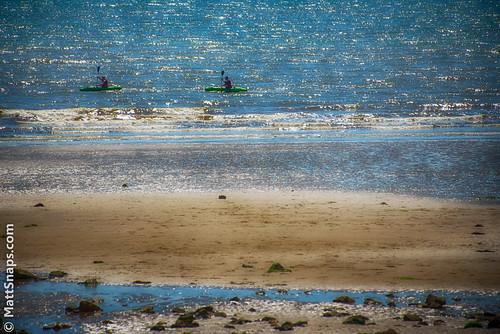 blue sea summer people sun green beach water wales pembroke coast boat seaside sand waves paddle tenby hoiday yello saundersfoot kyak cannoe