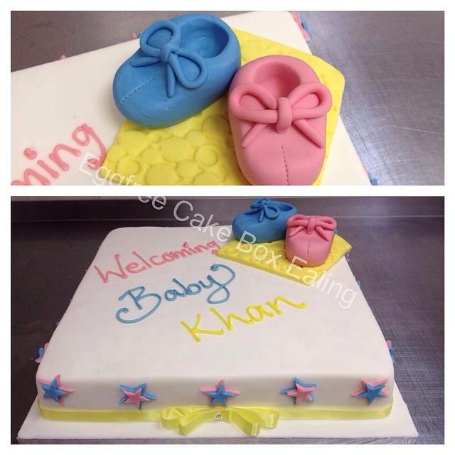 Baby shower cake #babyshower #baby #shoes #cake #cakebox #novelty # & Baby shower cake #babyshower #baby #shoes #cake #cakebox #novelty ... Aboutintivar.Com