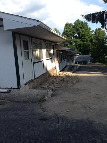 Motel walkway