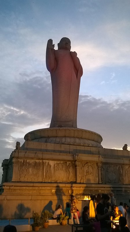 Buddha Statue in the middle of Hussain Sagar Lake
