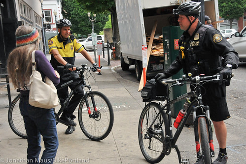 PPB Police Chief Mike Reese on bike patrol-6