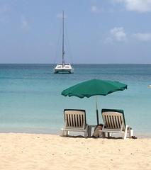 Chairs and Umbrella at Friar's Bay