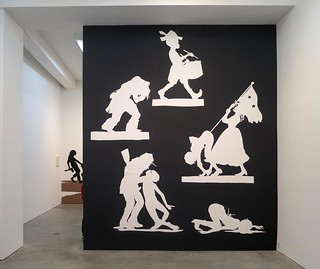 Kara Walker, THE NIGGER HUCK FINN PURSUES HAPPINESS BEYOND THE NARROW CONSTRAINTS OF YOUR OVERDETERMINED THESIS ON FREEDOM - DRAWN AND QUARTERED BY MISTER KARA WALKERBERRY, WITH CONDOLENCES TO THE AUTHORS