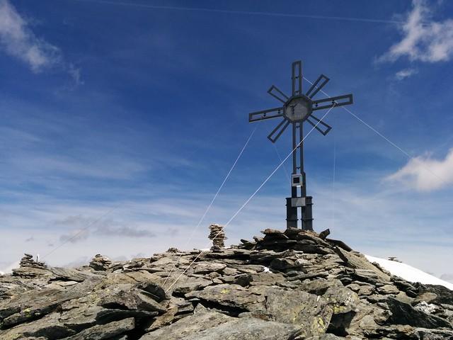 Gipfelkreuz Großer Moosstock 3.059 m, Tauferer Ahrntal