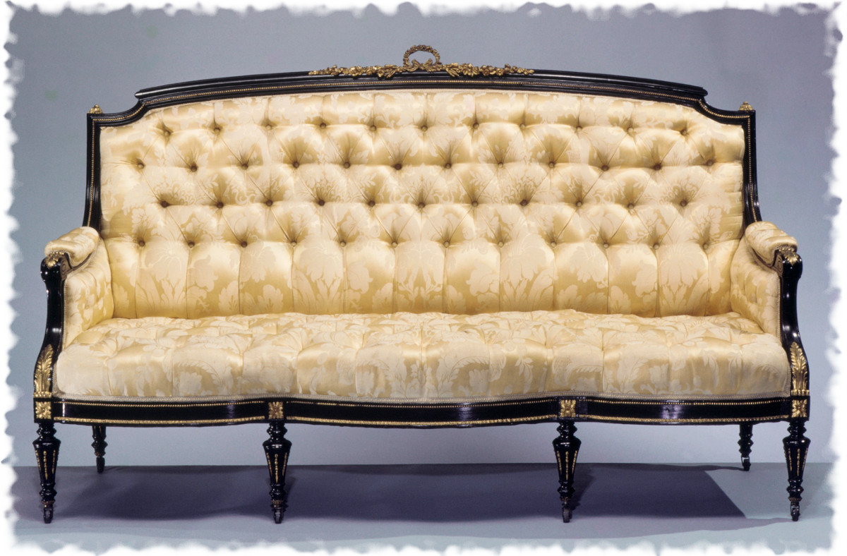 1860 Sofa. American. Maple, gilt bronze. metmuseum