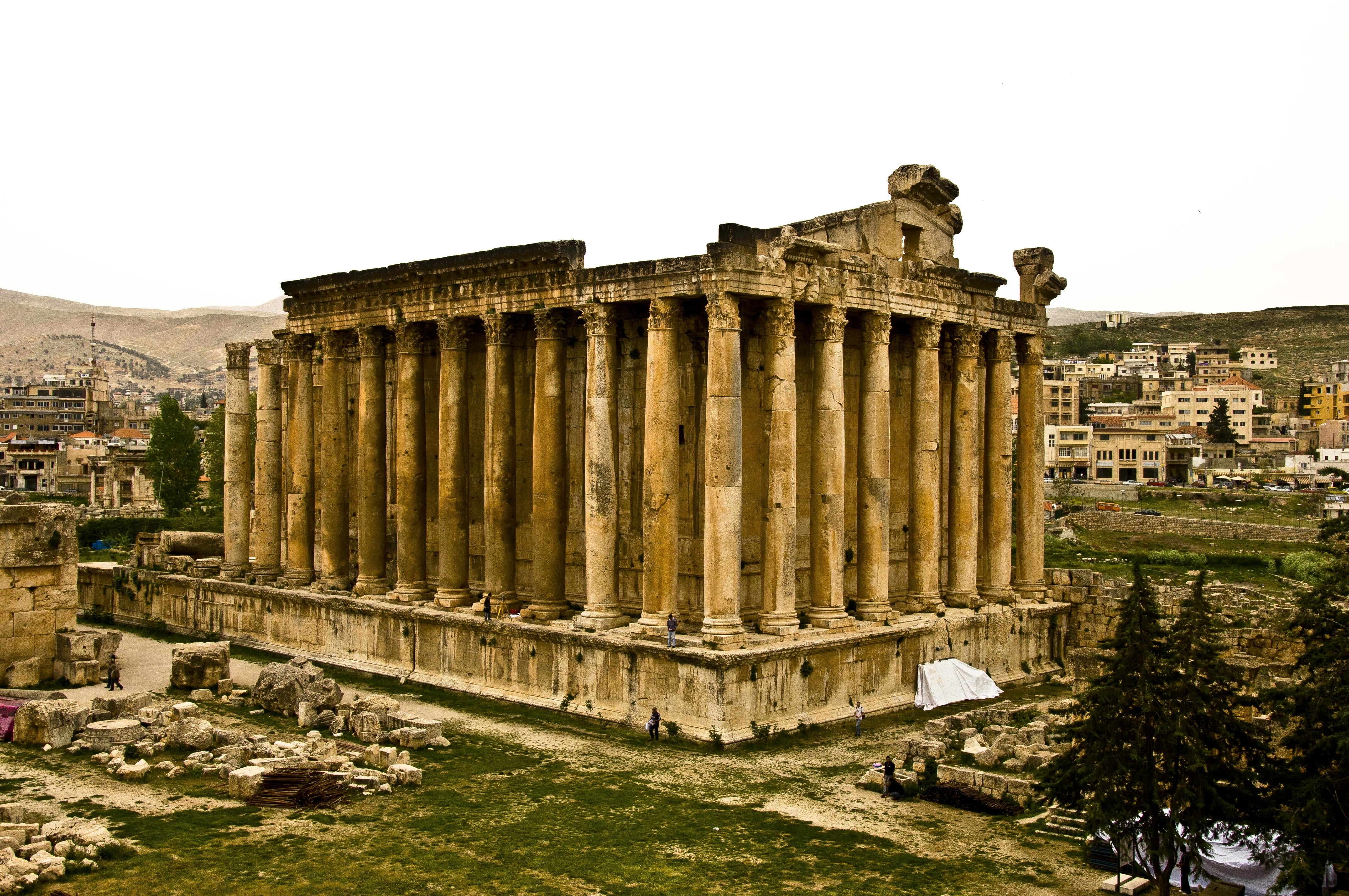 Anicent Roman temple in Baalbek