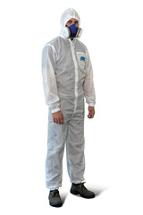 personal protective equipment, clothing, hazmat suit, outerwear, overall, adult,