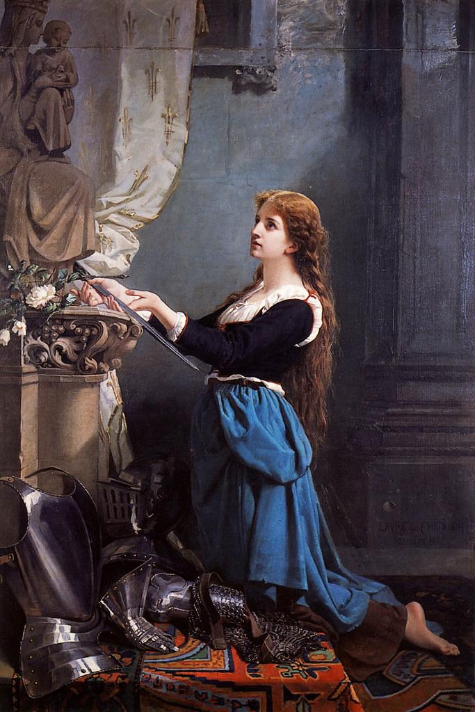 Ill. 4. Jeanne d'Arc vouant ses armes à la Vierge, par Laure de Chatillon, 1869 (musée national du Château de Compiègne)