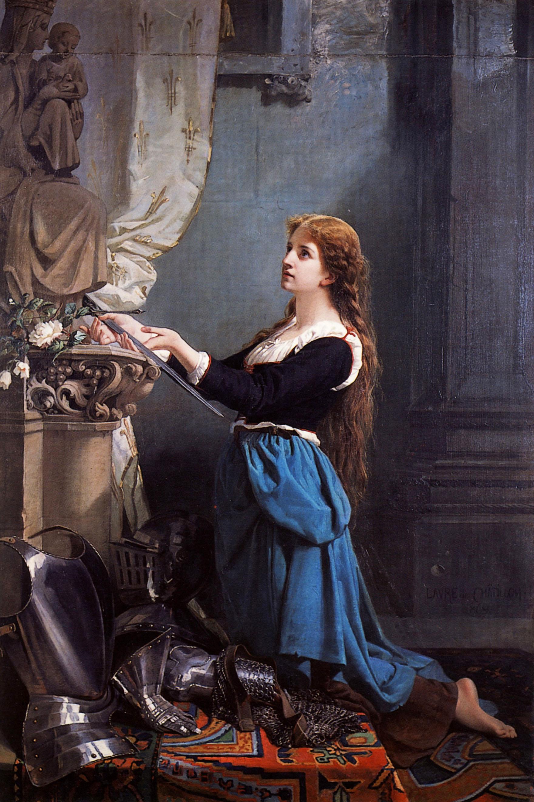 """Laure de Châtillon (1826-1908), """"Jeanne d'Arc voue se ..."""