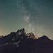 Aiguilles de Chamonix et voie lacté by Gimpz