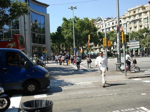 Green Light For Pedestrians in Barcelona