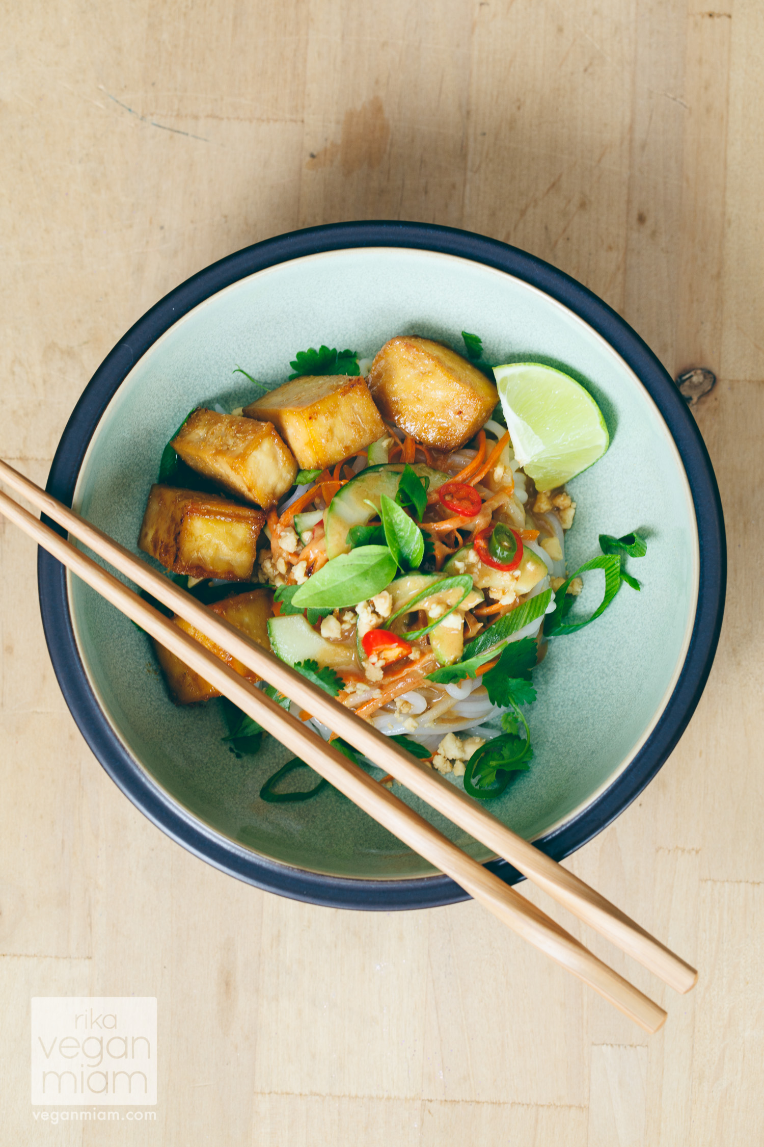 Birthday Asian Noodle Salad with Tangy Peanut Sauce + Cucumber Soup