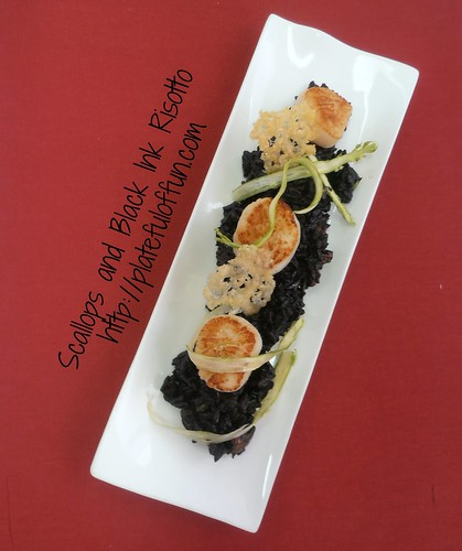Scallops and Black Ink Risotto