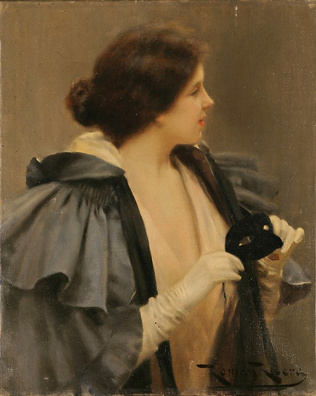 Romà Ribera i Cirera - Dona de l'antifaç (c.1890)