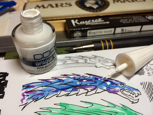 Copic Opaque White test