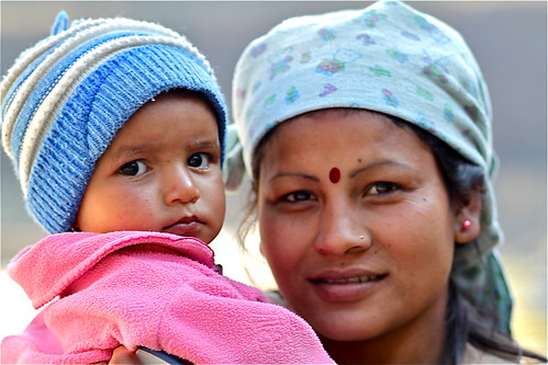 Mother and Child, Pokhara, Nepal.