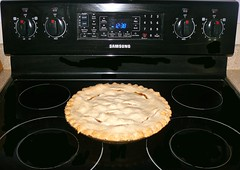 kitchen appliance(1.0), gas stove(1.0), kitchen stove(1.0), food(1.0), dish(1.0),