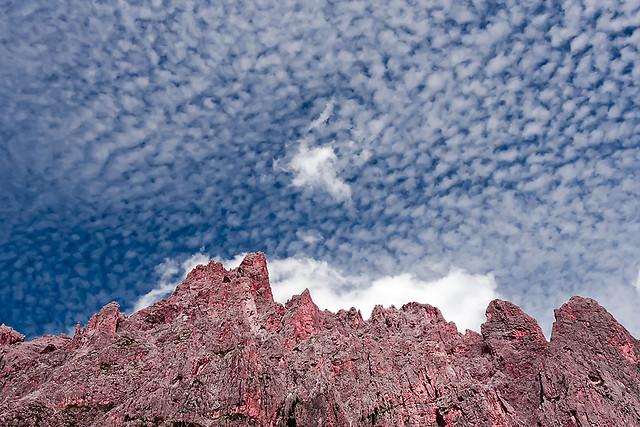 Landscape Montains Dolomites textured sky