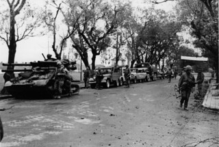 Ontos and Commandeered Vehicles, Hue, Vietnam