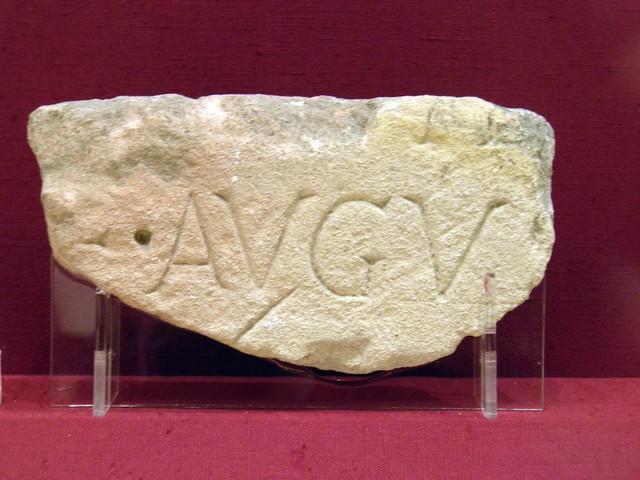 Fragment of an Imperial inscription, Corinium Museum (Cirencester)