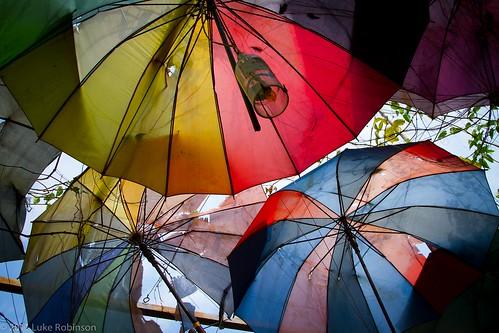 Umbrella Roof at Nola Bar, Old Quarter, Hanoi