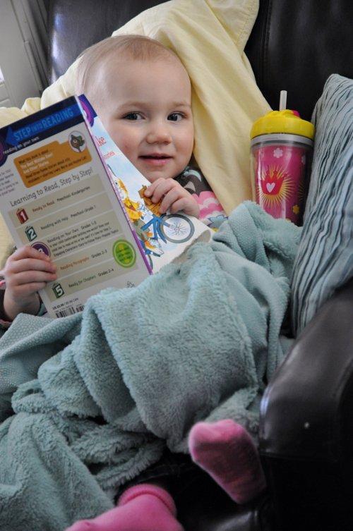 Lola reading 3