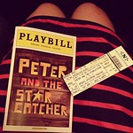 Intermission at Peter and the Starcatcher. My pre-review is it's AHmazing. You should all totally see it.