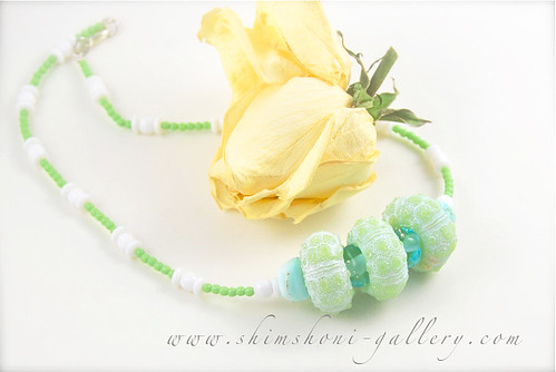 green sea urchin necklace