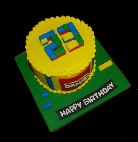 23rd birthday cake lego themed