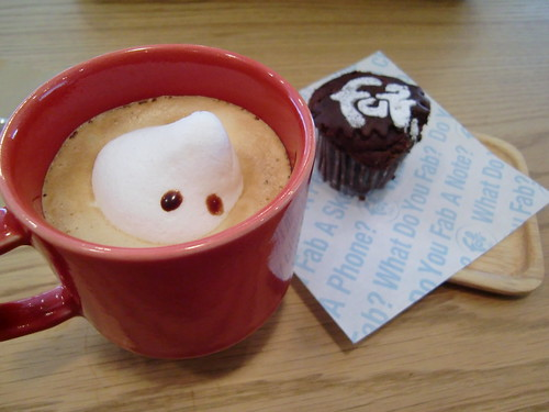 Marshmallow Man at Fab Café