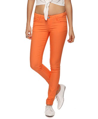 Orange Fitted Skinny Jean