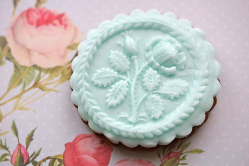 Blue Rose Cookie
