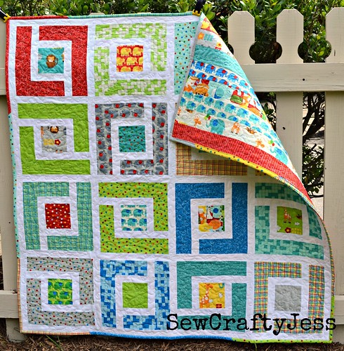 Moda Bake Shop Jungle Path baby quilt