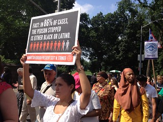 Silent march to end stop and frisk and racial profiling